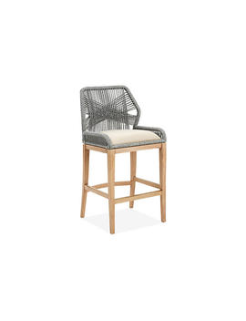 Colin Loom Barstool, Gray Rope by One Kings Lane