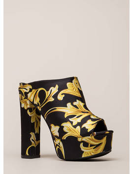 Cut It Chunky Peep Toe Platform Booties by Go Jane