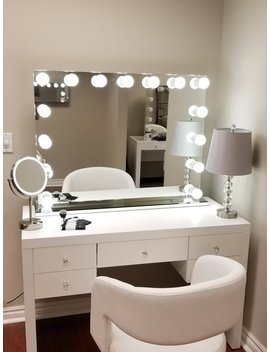 xxl-bluetooth-hollywod-forever-lighted-vanity-mirror-w_-sliding-dimmer-&-dual-outlets by etsy