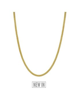 Cuban Link Chain   24 Kt Gold Plated by Rose Gold & Black