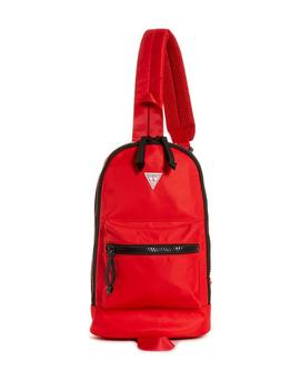 Varsity Stripe Nylon Duffel by Guess