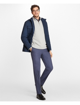 Cotton And Nylon Stretch Jacket by Brooks Brothers