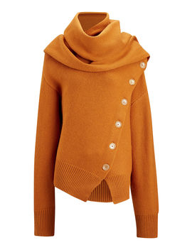 Draped Wool Cashmere Knit by Joseph