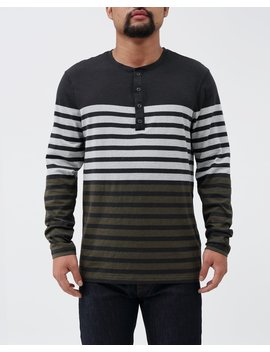 Striped Ls Henley by Retrofit