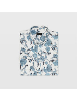 Slim Textured Peony Shirt by Club Monaco