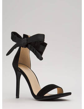 Put A Bow On It Tied Ankle Strap Heels by Go Jane