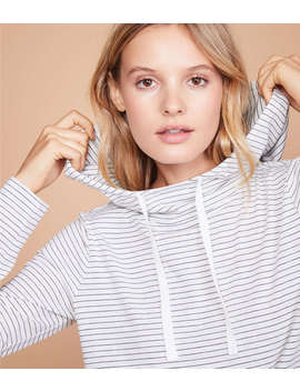 Lou & Grey Stripe Softened Jersey Hoodie Top by Lou & Grey