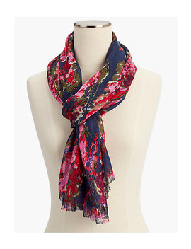 Silk Blend Painterly Scarf by Talbots