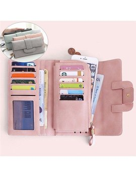 Women Stylish Large Capacity Multi Slots Button Hand Long Wallet 5.5 Inch Phone Bag Card Holder by Newchic