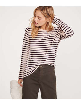 Lou & Grey Striped Softserve Tee by Lou & Grey