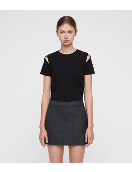 Harriet Check Skirt by Allsaints