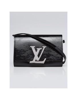 Black Electric Epi Leather Louise Pm Bag by Louis Vuitton