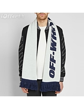 2018 Off Ow White Wing Scarf White One Size Mens New by I Offer