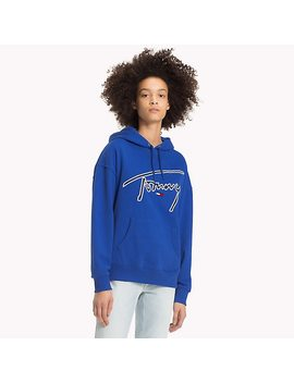Signature Cotton Fleece Hoodie by Tommy Hilfiger
