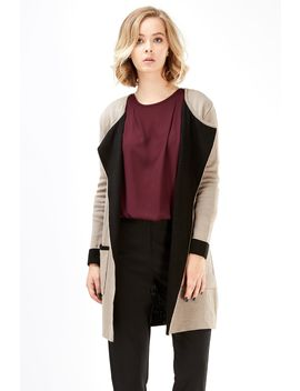 Tipped Double Faced Cardigan by Select