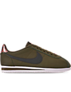 Women's Nike Classic Cortez Leather Metallic Casual Shoes by Nike