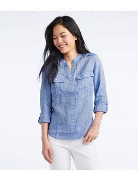 Premium Washable Linen Roll Tab Shirt, Long Sleeve by L.L.Bean