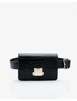 Croco Embossed Belt Bag by Le Chateau