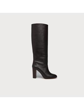 Zalia Brown Leather Knee Boots by L.K.Bennett