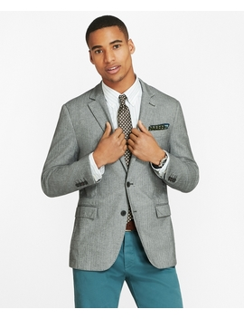 Herringbone Two Button Sport Coat by Brooks Brothers