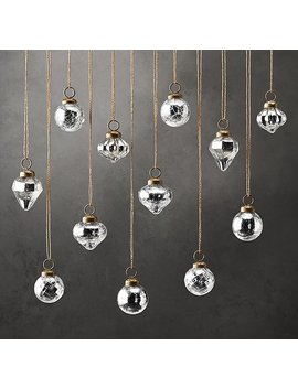Handblown Mercury Glass Ornament   Mini by Restoration Hardware