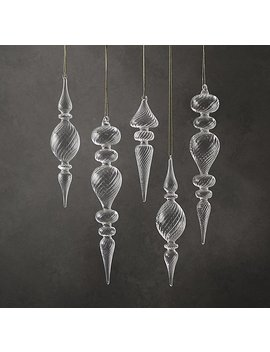 Artisan Handblown Glass Swirl Finial Collection by Restoration Hardware