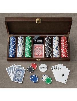 Leather Poker Set by Restoration Hardware