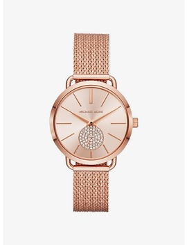 Portia Mesh Rose Gold Tone Watch by Michael Kors