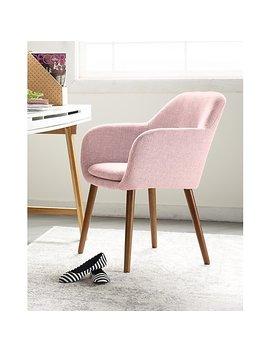 Elle Decor Roux Arm Chair, French Blush (Chrroublsl02) by Elle Decor