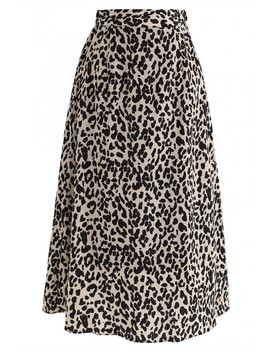 Wild Heart Leopard Printed A Line Midi Skirt by Chicwish