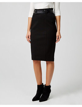 Ponte Knit High Waist Pencil Skirt by Le Chateau