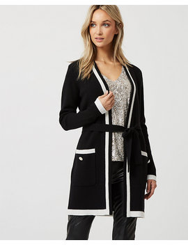 Viscose Blend Belted Cardigan by Le Chateau