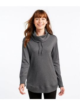 Pima Cotton Tee, Long Sleeve Drawstring Cowlneck by L.L.Bean