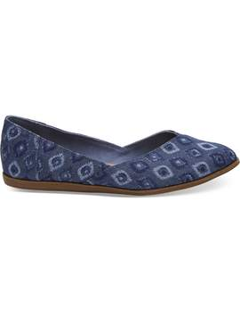 Blue Washed Denim Women's Jutti Flats by Toms