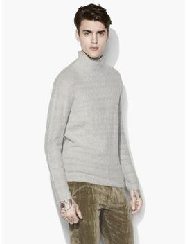 Mock Neck Cable Sweater by John Varvatos