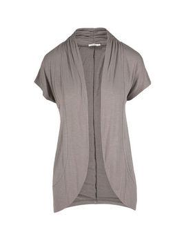 Round Hem Short Sleeve Open Cardigan by Ricki's