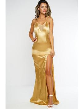 Xenia Dress   Gold by Want My Look
