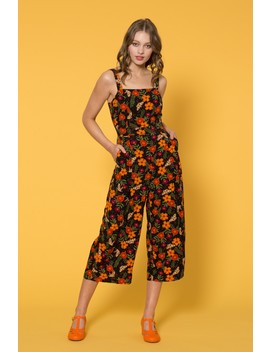 Moth And Flower Jumpsuit by Dangerfield