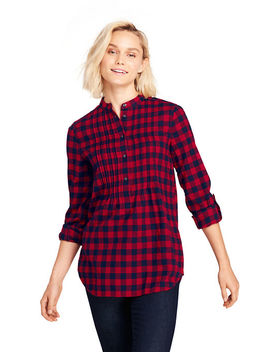 Women's Flannel Pleated Tunic by Lands' End