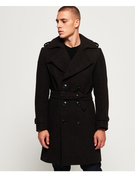 Premium Double Breasted Bridge Coat by Superdry