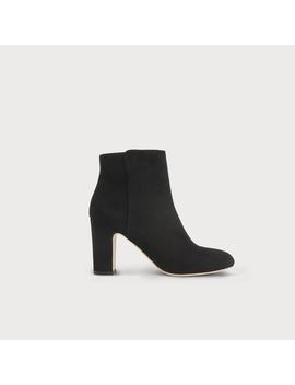 Ayla Black Suede Ankle Boots by L.K.Bennett