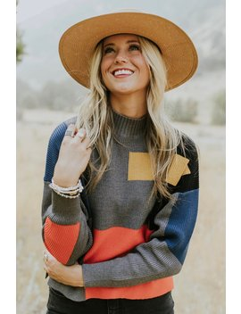 Abernathy Colorblock Sweater by Roolee