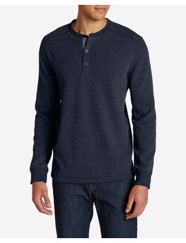 Men's Eddie's Favorite Thermal Henley Shirt by Eddie Bauer