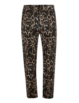 Gold Snakeskin Tapered Trousers by Topman