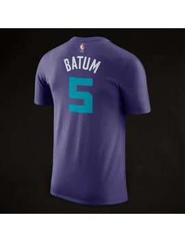Jordan Nba Nicolas Batum Charlotte Hornets Name No. Dry Tee   New Orchid by Pro Direct Soccer