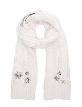 Embellished Chunky Cable Scarf by Juicy Couture