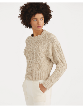 Cable Cotton Blend Sweater by Ralph Lauren