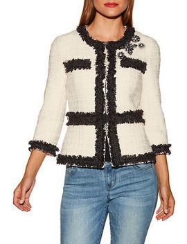 Embellished Tweed Jacket by Boston Proper