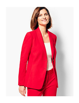 Italian Luxe Knit Two Button Blazer by Talbots