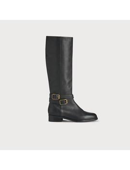Brogan Black Leather Knee Boots by L.K.Bennett
